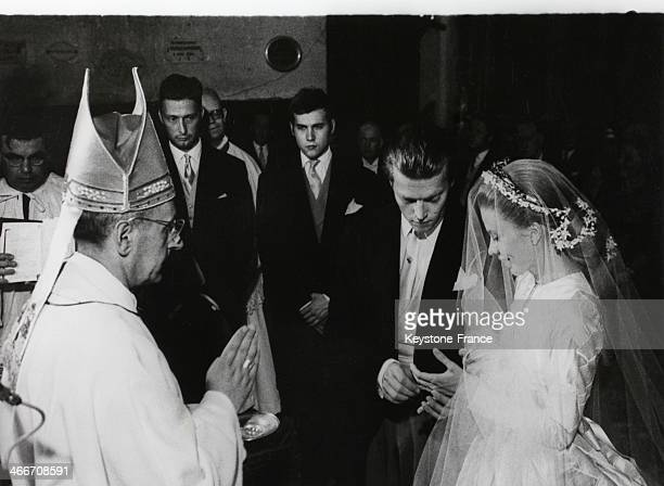 Wedding of Prince Jacques d Orleans with Gersande de Sabran Ponteves on August 041969