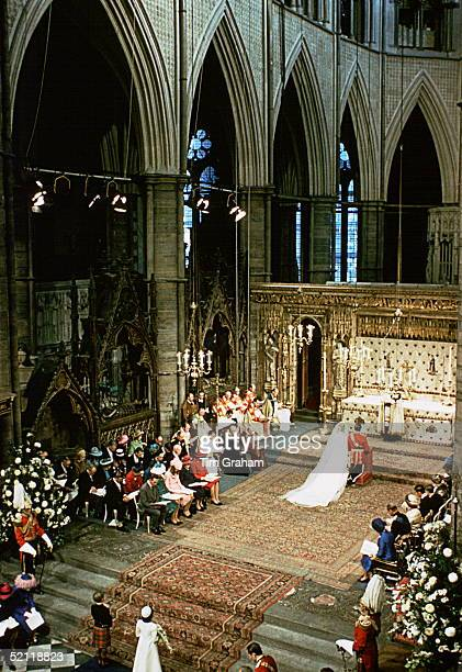 Wedding Of Princess Anne To Captain Mark Phillips In Westminster Abbey