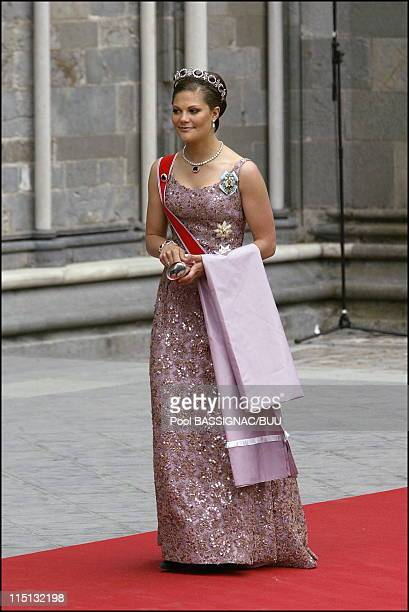 Wedding of Princess Martha Louise and Ari Behn in Trondheim Norway on May 24 2002 Princess Victoria of Sweden