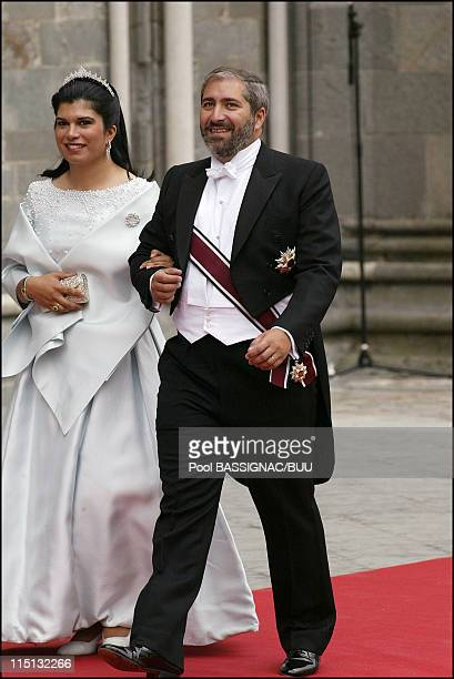 Wedding of Princess Martha Louise and Ari Behn in Trondheim Norway on May 24 2002 Princess Sumaya bint El Hassan bin Talal and Nasser Judeh