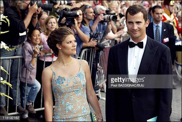 Wedding of Princess Martha Louise and Ari Behn Reception hosted by the government at the SAS Royal Garden Hotel in Trondheim Norway on May 23 2002...