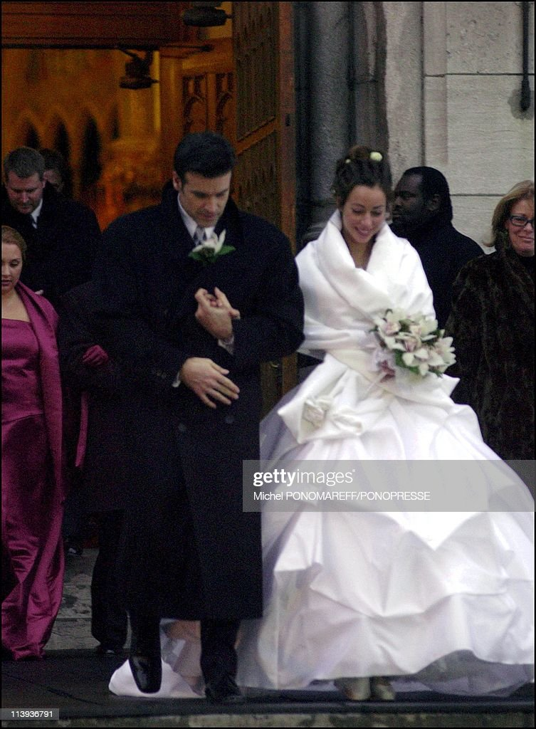 Wedding of singer Roch Voisine and Myriam St Jean at the St Viateur church In Montreal, Canada On December 21, 2002.