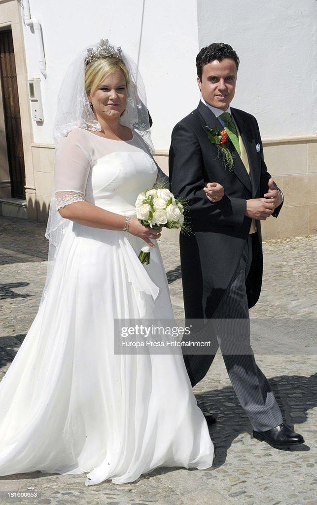Wedding of Sophie Von Schonburg and Carlos Andreu on September 21, 2013 in Ronda, Spain.