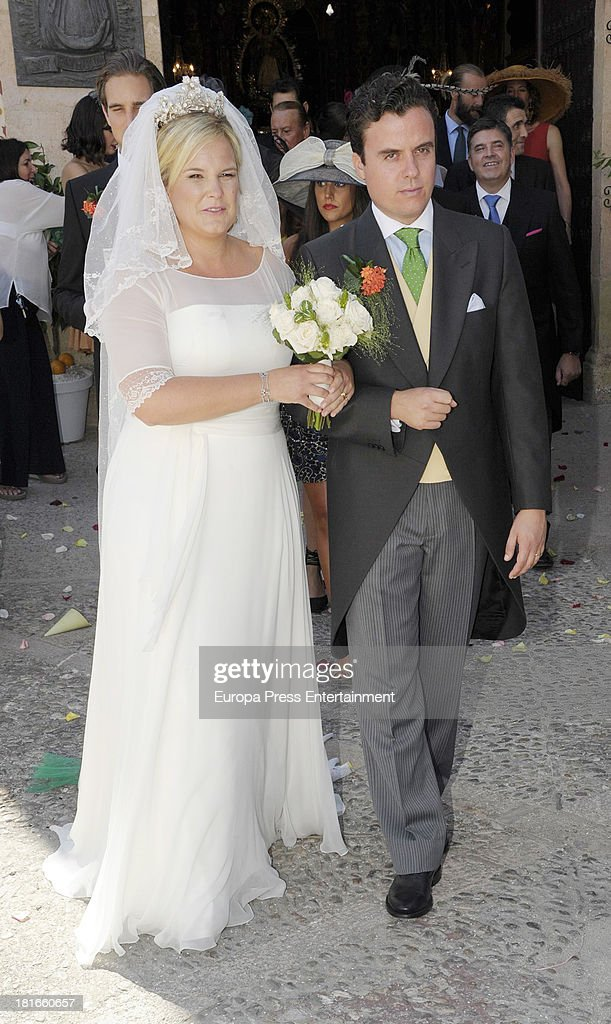 Wedding of Sophie Von Schonburg and Carlos Andreu on September 21, 2013 in Ronda, Spain.