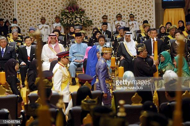 Wedding of the Crown Prince of Brunei with Dayangku Sarah ceremony at the Palace Istana In Bandar Seri Begawan Brunei Darussalam On September 09 2004...