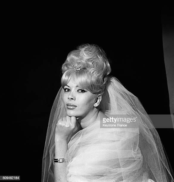 Wedding Of Transsexual Coccinelle With Journalist Francis Bonnet in Paris France on March 13 1962
