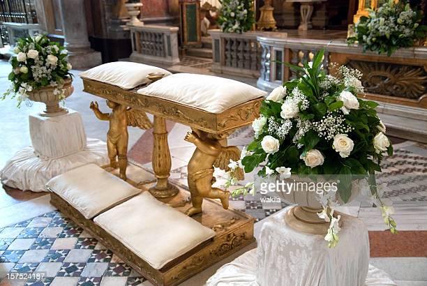 Hochzeit-Schmuckteil in Kirche