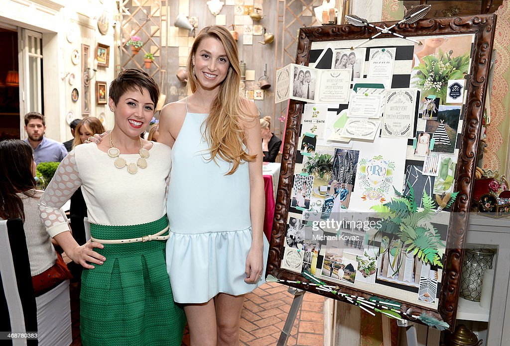 Wedding Paper Divas' Amber Harrison (L) and Whitney Port attend Wedding Paper Divas Presents 'Whitney Port's Love Story' at Mari Vanna Los Angeles on February 11, 2014 in West Hollywood, California.