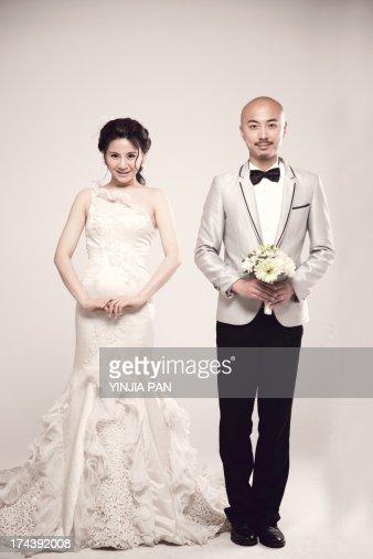 Wedding photo of bridegroom and bride