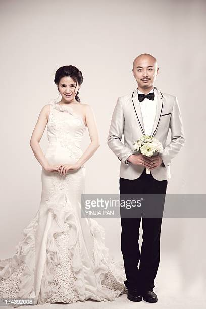 Wedding photo of bridegroom and bride