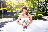 Wedding photo session at Japanese garden