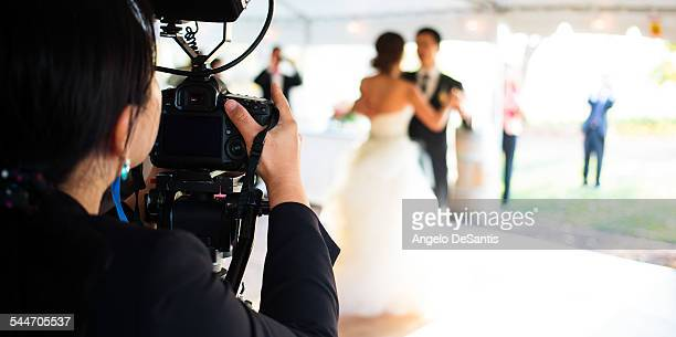 Wedding photographer working