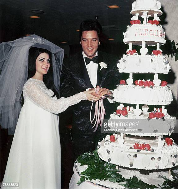 Wedding Photos of Elvis Presley to Priscilla on May 011967
