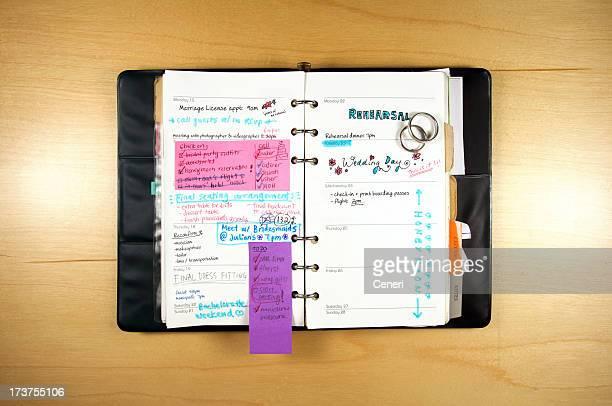 Calendario di pianificazione del matrimonio