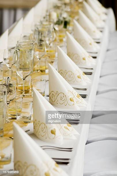 Wedding Reception - white table with cutlery