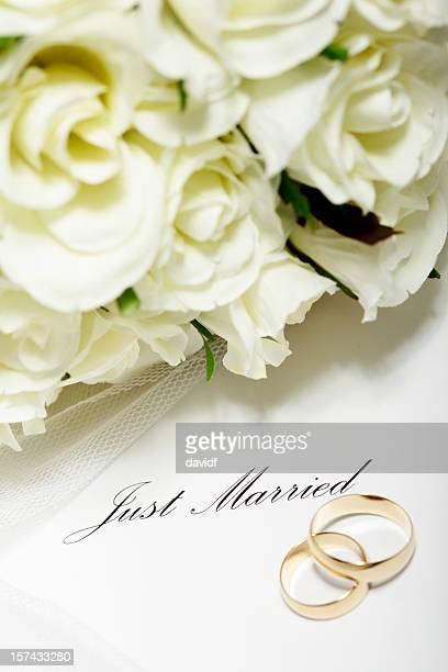 Wedding Rings Just Married