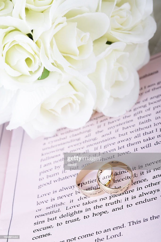 Bible Wedding Rings Stock Photo Getty Images