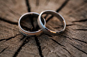 Wooden rings on a wood