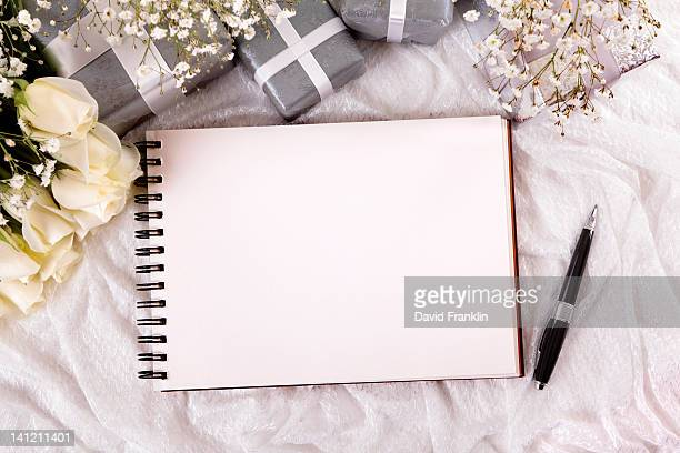 Wedding scene with empty album