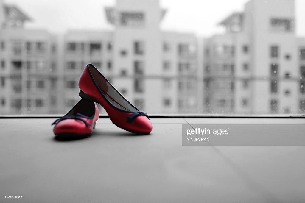 Wedding shoes : Stock Photo