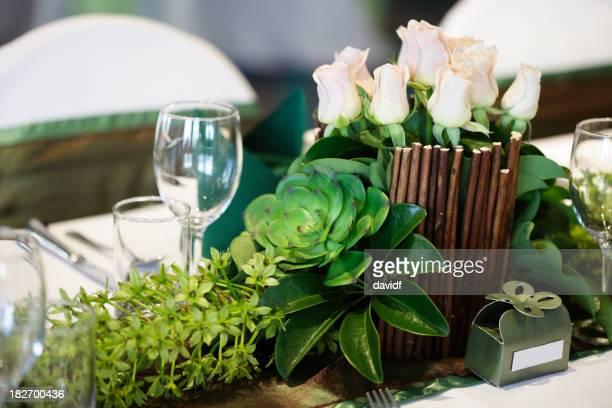Hochzeitstisch-Dekoration