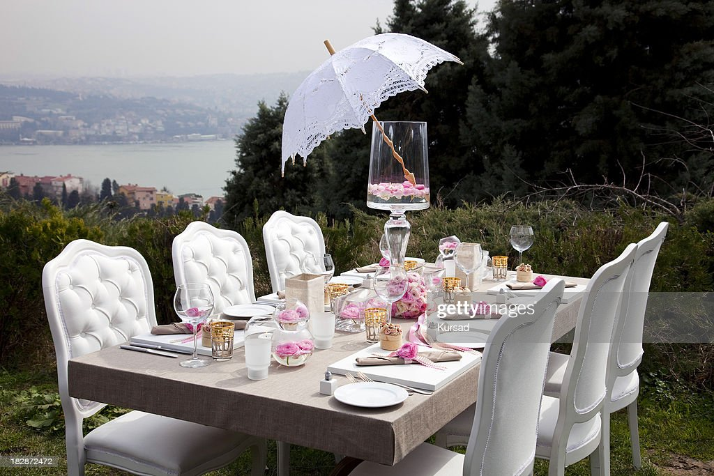 Wedding table settings stock photo getty images for Wedding photography settings