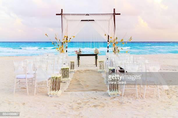 Wedding venue on the beach, Cancun, Mexico