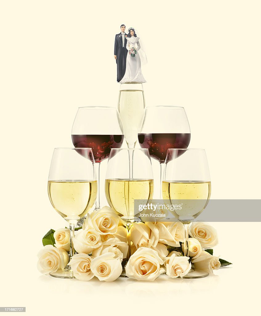 wedding wines : Stock Photo