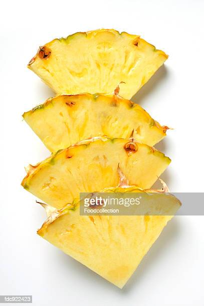 Wedges of pineapple