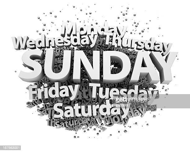 Weekdays concept - Sunday