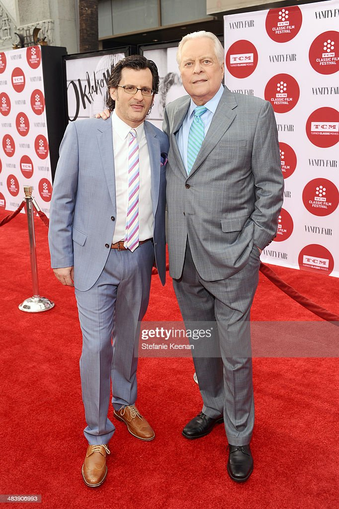 weekend daytime host of Turner Classic Movies Ben Mankiewicz and actor Robert Osborne attend the opening night gala screening of 'Oklahoma' during...