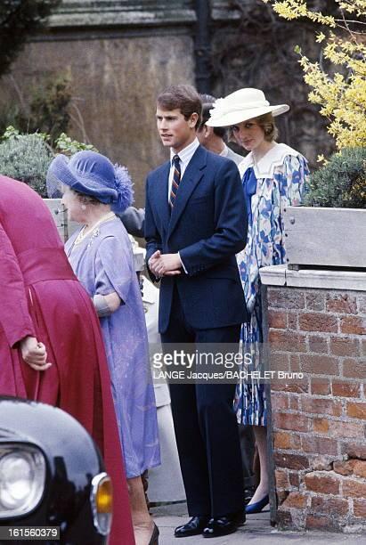 Weekend In Windsor La famille royale d'Angleterre à Windsor pour l'anniversaire de la Reine La princesse DIANA avec le prince EDWARD et la Reine mère...