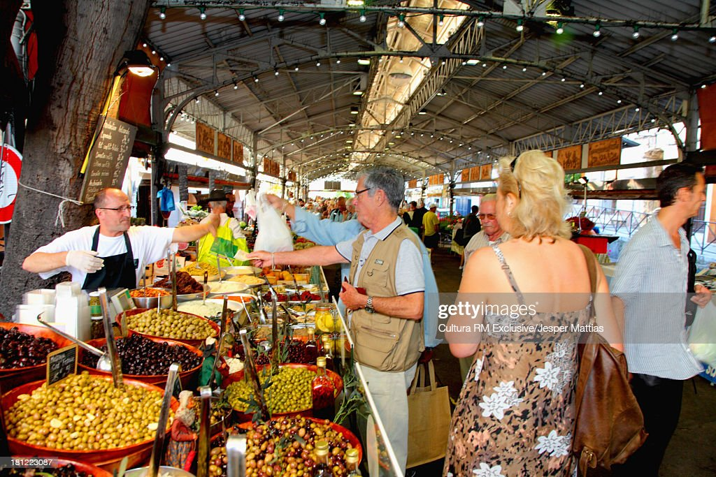 Weekly Food market, Antibes, Provence-Alpes-Cote d'Azur, France