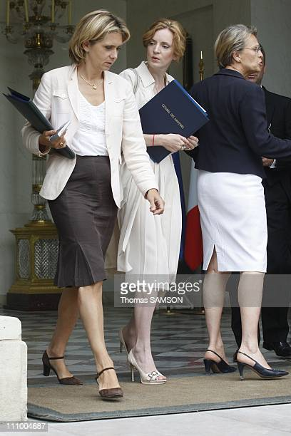 Weekly Minister council at the Elysee Palace in Paris France on July 2nd 2008 Valerie Pecresse Minister of Research and Higher Education Nathalie...