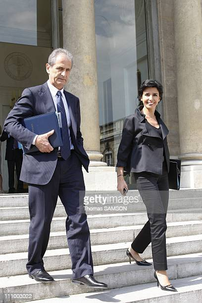 Weekly Ministers council at the Elysee Palace in Paris France on June 17th 2008 Hubert Falco State Secretary in charge of Town and Country Planning...