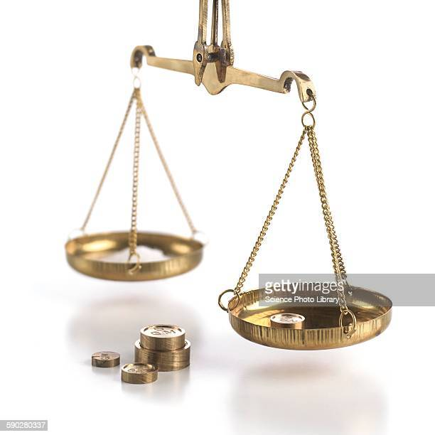 Weighing scales with weights