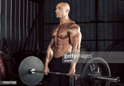 Weight lifting : Stock Photo