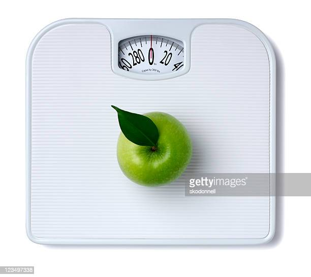 Balance avec pomme verte