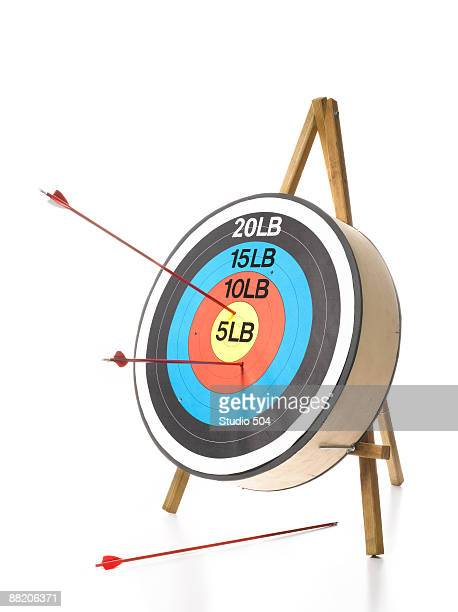 Weight target with arrows