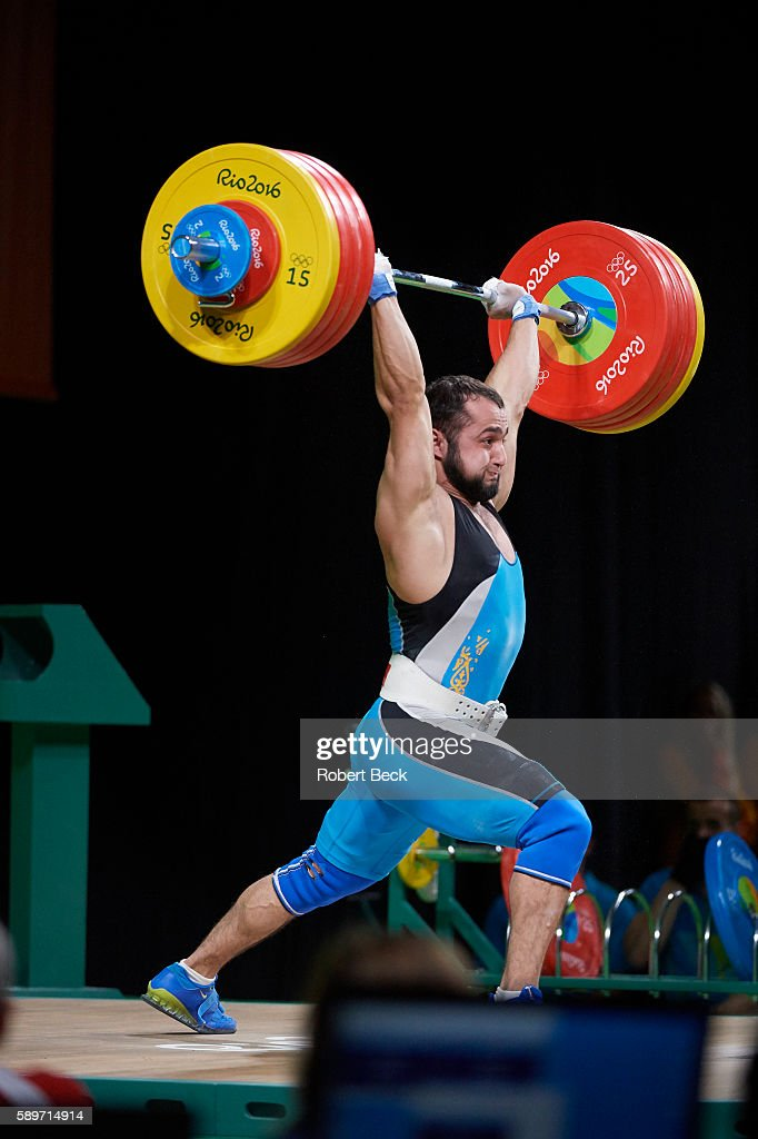 2016 Summer Olympics Kazakhstan Nijat Rahimov in action during Men's 77kg Preliminary Round Group A Final at Riocentro Rahimov set world record with...