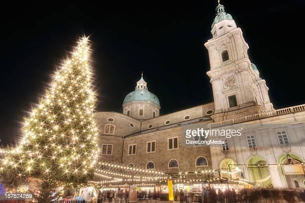 Weihnachtsmarkt in Salzburg, Österreich