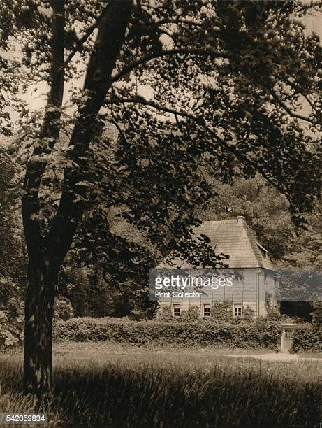 Weimar Goethe's Gardenhouse' 1931 From Deutschland by Kurt Hielscher [F A Brockhaus Leipzig 1931] Artist Kurt Hielscher