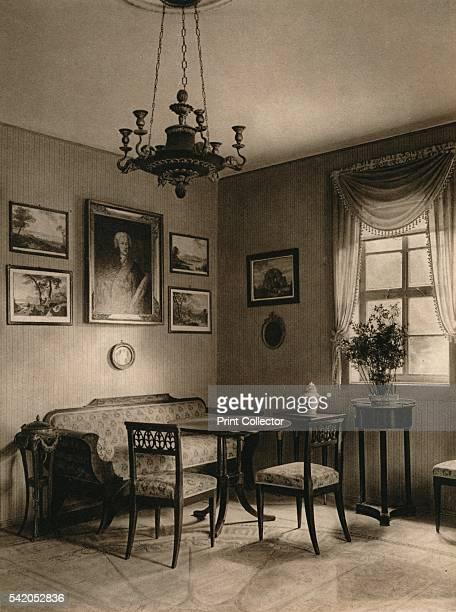 Weimar Interior of Tiefurt Castle' 1931 From Deutschland by Kurt Hielscher [F A Brockhaus Leipzig 1931] Artist Kurt Hielscher