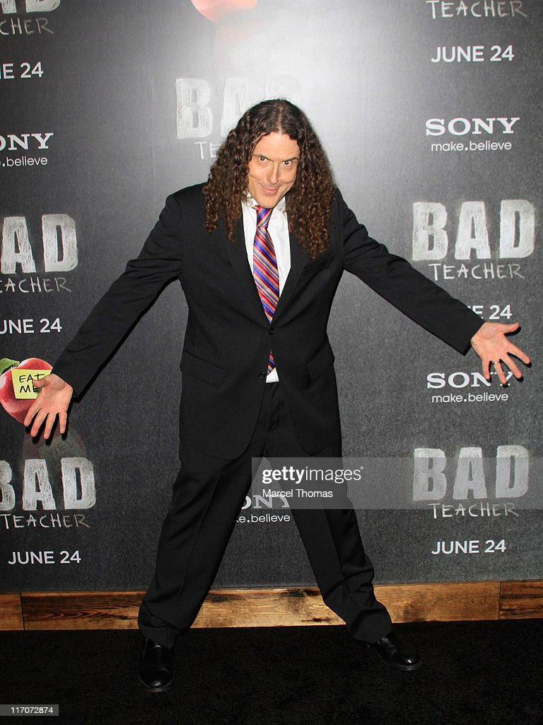 <a gi-track='captionPersonalityLinkClicked' href=/galleries/search?phrase=Weird+Al+Yankovic&family=editorial&specificpeople=3958122 ng-click='$event.stopPropagation()'>Weird Al Yankovic</a> attends the world premiere of 'Bad Teacher' at the Ziegfeld Theatre on June 20, 2011 in New York City.