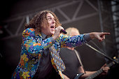 Weird Al Yankovic performs at Falls Festival on December 31 2015 in Byron Bay Australia