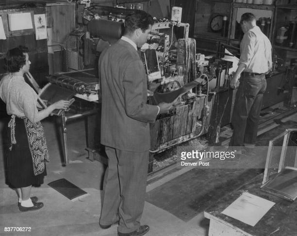 VE MOVED 1N — W J Weisberg general manager of Frankel Carbon Ribbon company inspects a stencil just run off a collator an intricate machine invented...