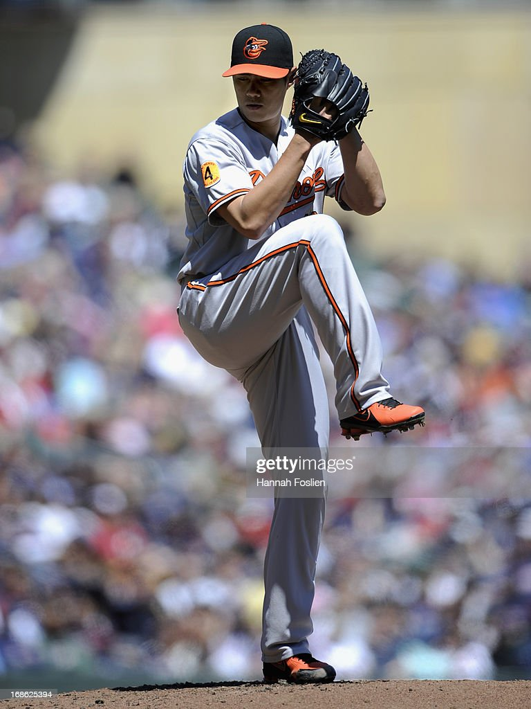 <a gi-track='captionPersonalityLinkClicked' href=/galleries/search?phrase=Wei-Yin+Chen&family=editorial&specificpeople=8958243 ng-click='$event.stopPropagation()'>Wei-Yin Chen</a> #16 of the Baltimore Orioles delivers a pitch against the Minnesota Twins during the first inning of the game on May 12, 2013 at Target Field in Minneapolis, Minnesota. The Orioles defeated the Twins 6-0.