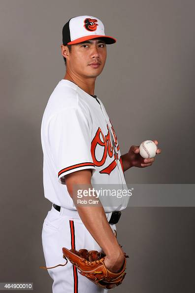 WeiYin Chen of the Baltimore Orioles poses on photo day at Ed Smith Stadium on March 1 2015 in Sarasota Florida