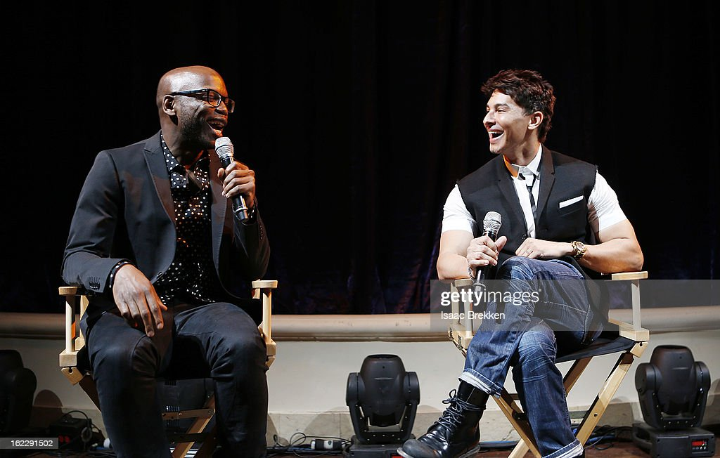 Welby Altidor, Cirque du Soleil Director of Creation, (L) and Jamie King, writer and director of 'Michael Jackson ONE' attend a news conference announcing Cirque du Soleil's 'Michael Jackson ONE' at the Mandalay Bay Resort & Casino on February 21, 2013 in Las Vegas, Nevada.