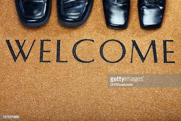 Welcome Door Mat with Shoes